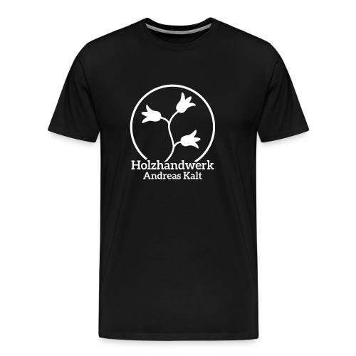 White Holzhandwerk logo - Men's Premium T-Shirt