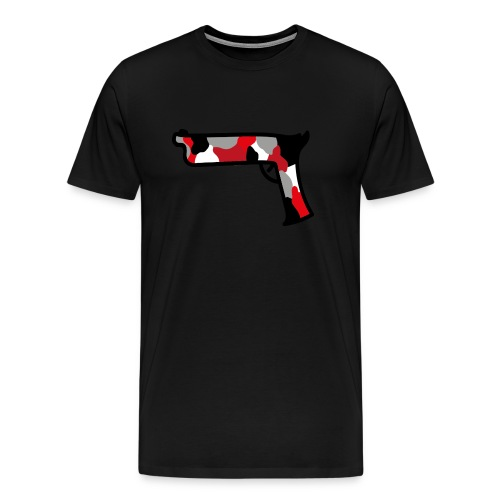 strijdR pistol polo white - Mannen Premium T-shirt