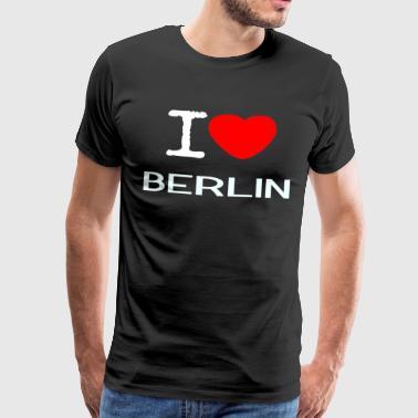 I love Berlin - Miesten premium t-paita