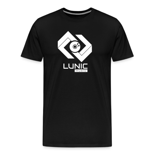 Lunic Music Logo (Weiß) - Männer Premium T-Shirt