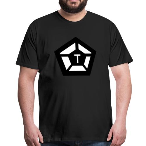 Tim Pentagon Logotyp - Premium-T-shirt herr