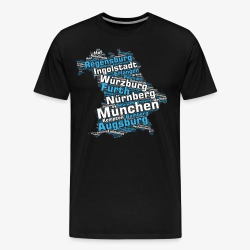 Bundesland Bayern Städte & Gemeinden (>2000 Orte) - Männer Premium T-Shirt