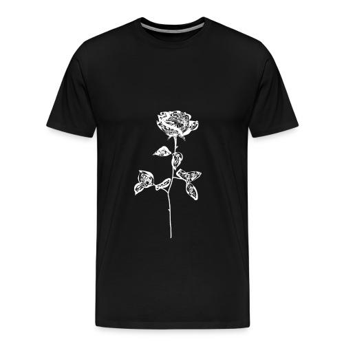 OG white rose. - Men's Premium T-Shirt