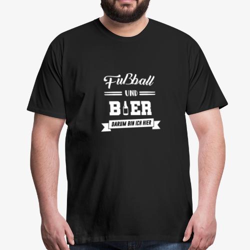 Lebensmotto: Fußball & Bieeer - Männer Premium T-Shirt