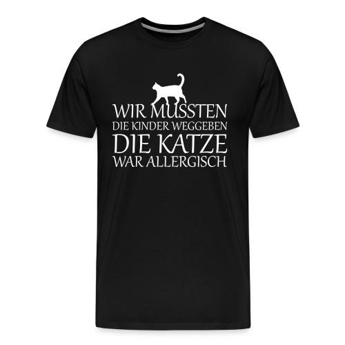 Katze Katzen Haustier Miau Geschenk - Männer Premium T-Shirt