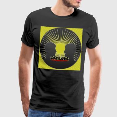 Vrolijke liefde lesbische mannen vrouwen meisjes gratis PrideGiftShop - Mannen Premium T-shirt