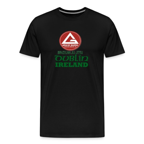 Gracie Barra Dublin Gaelic Celtic Font PNG - Men's Premium T-Shirt