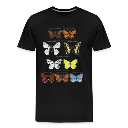 Mariposas clasificación zoología - Camiseta premium hombre