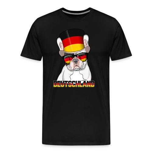 Coole Französische Bulldogge mit Hut und Brille - Männer Premium T-Shirt