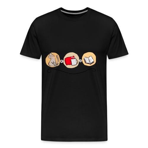Un chat, un plaid, un livre - T-shirt Premium Homme