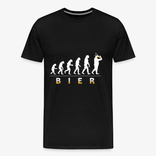 Bier Evolution. Männer Bier Shirt Geschenk Idee - Männer Premium T-Shirt