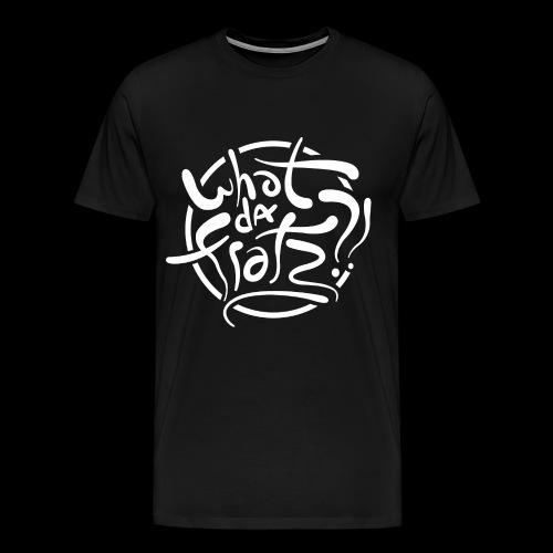 WDF LOGO WIT - Mannen Premium T-shirt