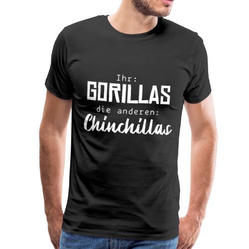 Gorillas vs. Chinchillas - Männer Premium T-Shirt