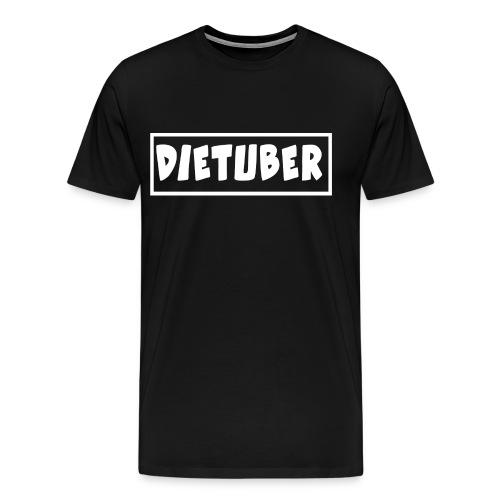 DieTuber Logo weiss - Männer Premium T-Shirt