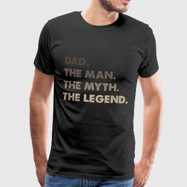 Best Dad. Dad of the Year.Gifts for Dads Super Dad - Men's Premium T-Shirt
