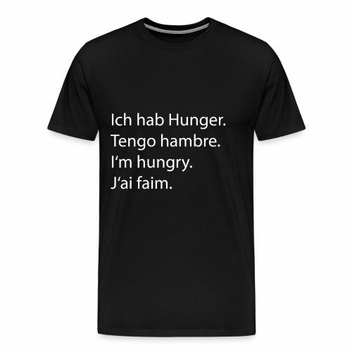 Ich hab Hunger Tshirt - Männer Premium T-Shirt