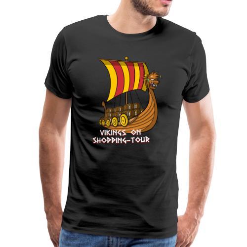 Wikinger auf Shopping Tour - Männer Premium T-Shirt