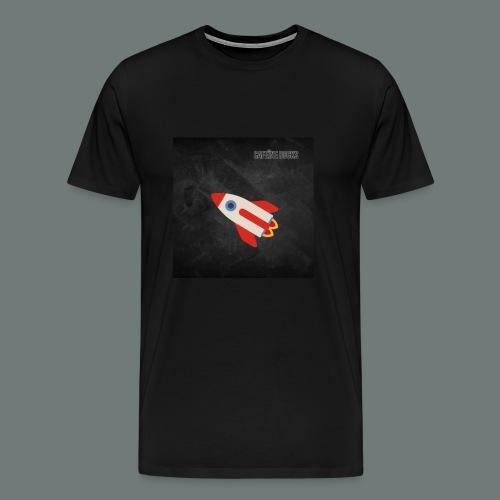 Cafeïne Rocks Rocket - Mannen Premium T-shirt