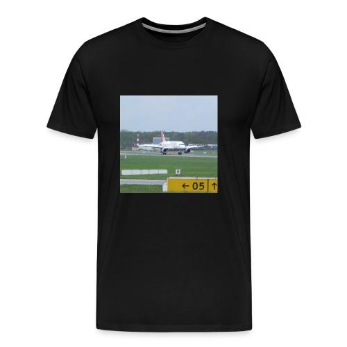 Germanwings A319 after landing - Männer Premium T-Shirt