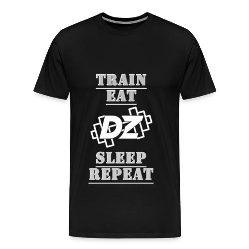 Train, Eat, Sleep, Repeat - Trainingsmotivation - Männer Premium T-Shirt