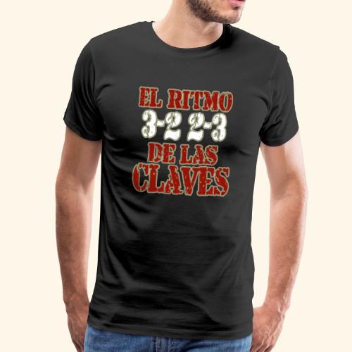 Salsa clave rhythm salsa music dance gift - Men's Premium T-Shirt
