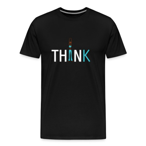 Slim, fit and thin, think being thin and healthy - Men's Premium T-Shirt