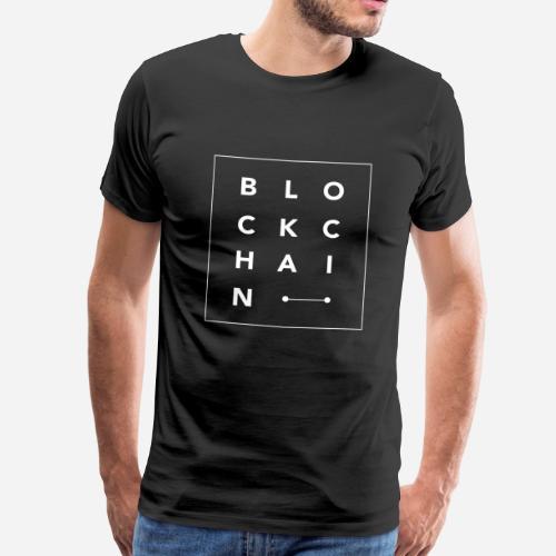 BlockChain letters square - Camiseta premium hombre