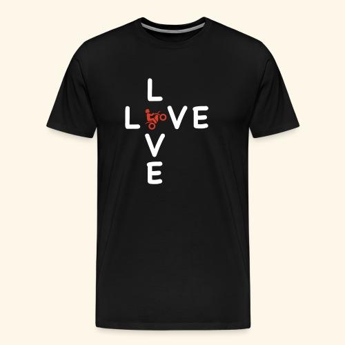LOVE Cross white wheely red 001 - Männer Premium T-Shirt
