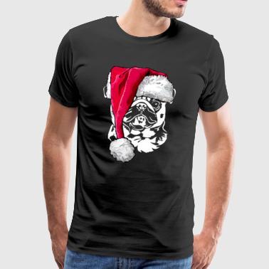 MOPS - PUG Weichnachten gave - Premium T-skjorte for menn