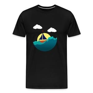 Sejlbåd - Herre premium T-shirt