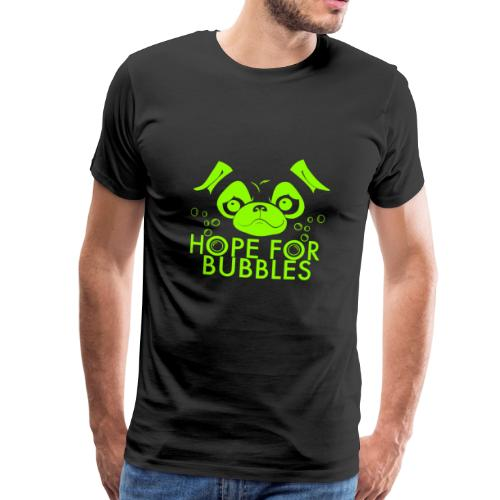 HOPE FOR BUBBLES LIME MERCH - Mannen Premium T-shirt