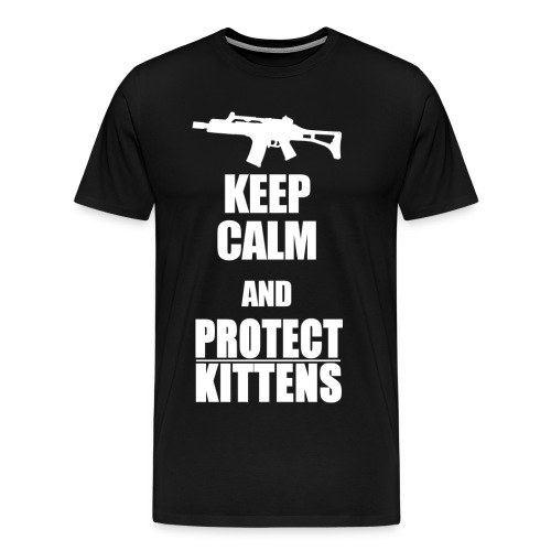 Keep Calm and Protect Kittens - Männer Premium T-Shirt