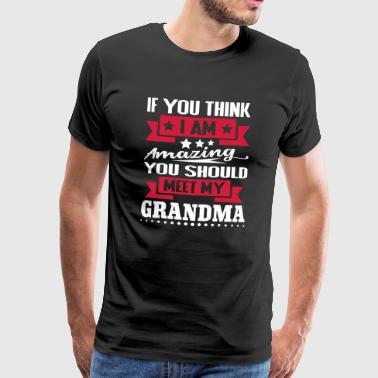 Iam Niesamowite powinieneś poznać moją babcię - Koszulka męska Premium