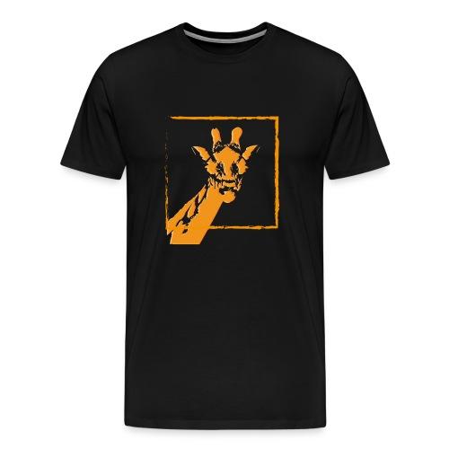 giraffe strichzeichnung orange - Männer Premium T-Shirt