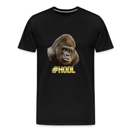 Gorilla #HODL Gold - Männer Premium T-Shirt