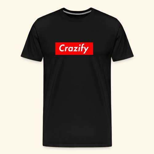 Crazify Red & White - Men's Premium T-Shirt