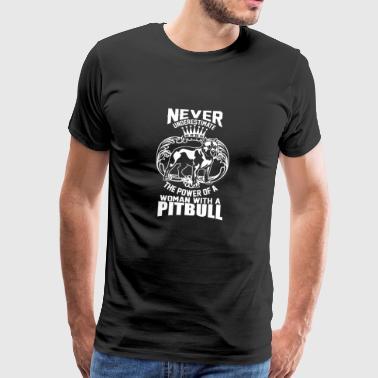 Pitbull hund Woman kjempe hund kjæledyr gave - Premium T-skjorte for menn