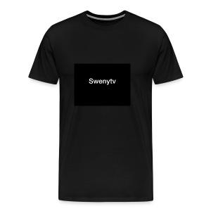 swenytv zwart logo - Mannen Premium T-shirt