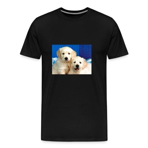 Golden labs pups - Men's Premium T-Shirt