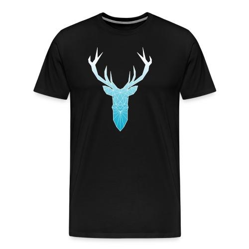 Hirschkopf mit Geweih - hellblau - Männer Premium T-Shirt