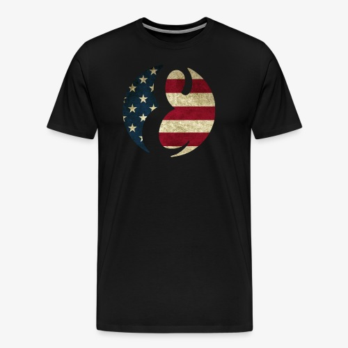 Everipedia - Logo USA dirty - Männer Premium T-Shirt