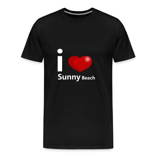I love Sunny Beach 2 (white print) - Men's Premium T-Shirt