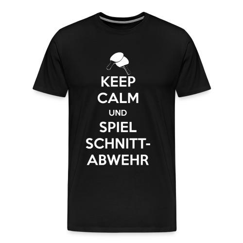 Tischtennis Schnittabwehr - Männer Premium T-Shirt