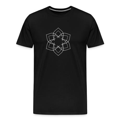 Mandala 6 Blätter weiß - Männer Premium T-Shirt