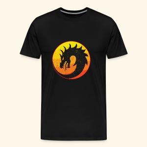 Flaming Dragon Retro - Men's Premium T-Shirt