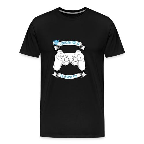 Op zoek naar speler # 2 White - Mannen Premium T-shirt