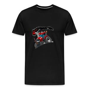 RED TRACTOR white border - Mannen Premium T-shirt