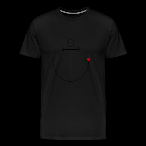 Anker mit Herz - Männer Premium T-Shirt