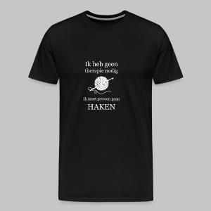 Haak Therapie - Mannen Premium T-shirt