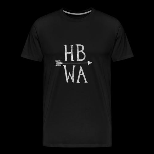 HBWA Logo Weiß - Männer Premium T-Shirt